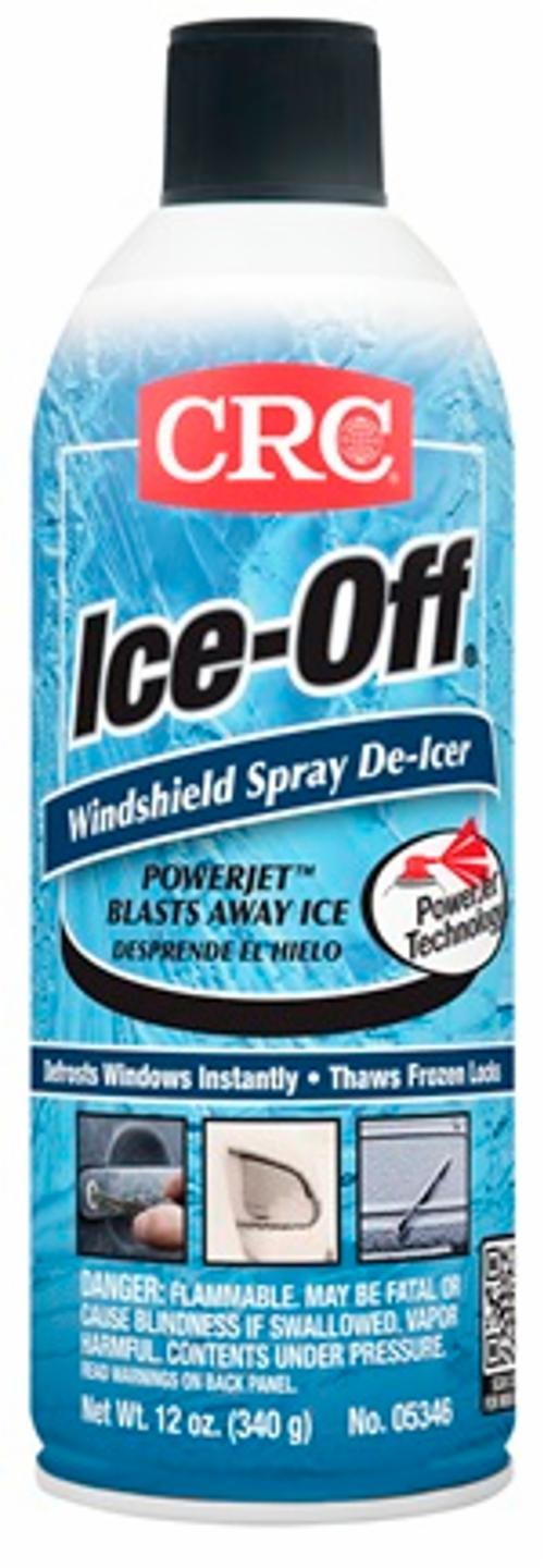 CRC® 05346 Ice-Off® Flammable Windshield Spray De-Icer, 16 oz Aerosol Can, Liquid, Clear Colorless, Pungent - Washer Fluid & Windshield Treatments