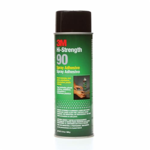 Scotch-Weld™ 021200-30023 90 High Strength Spray Adhesive, 24 fl-oz Aerosol Can, Gas, Clear, 0.72 - Spray Adhesives