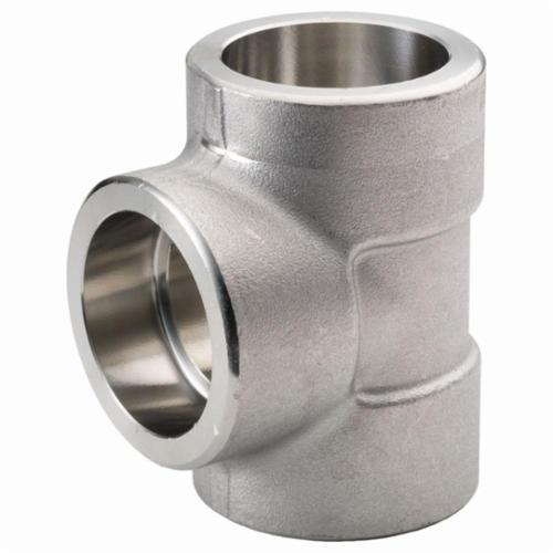 Merit Brass SW3606D-08 Pipe Tee, 1/2 in, Socket Weld, 3000 lb, 316/316L Stainless Steel, Import - Stainless Steel Pipe Fittings
